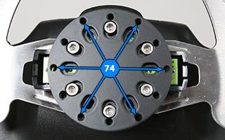 Logitech G29 G27 G25 G920 Steering Wheel Adapter Alu Plate 70